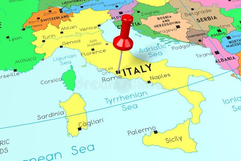 Karte Der Stadt Von Rom Italien Stock Abbildung Illustration