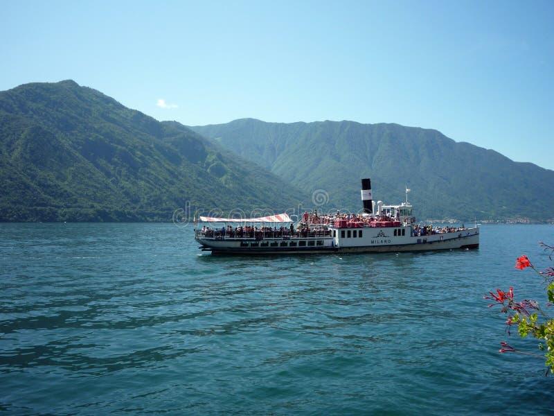 Italien sjö Como, Lenno royaltyfri bild