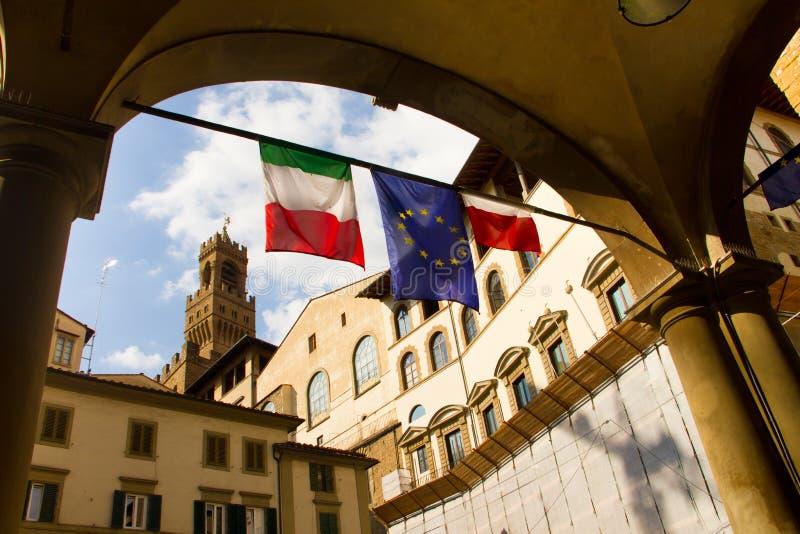 Italien-Straßen-Szene in Florenz lizenzfreies stockbild