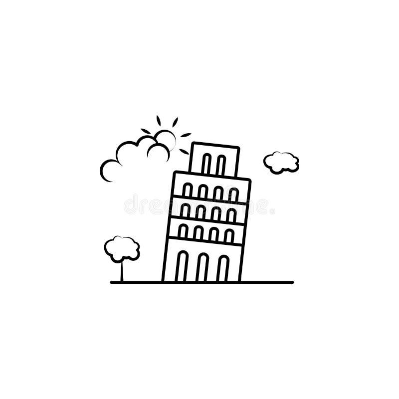Italien symbol Beståndsdel av den anti-åldras symbolen för mobila begrepps- och rengöringsdukapps Den klotterstilItalien symbolen royaltyfri illustrationer
