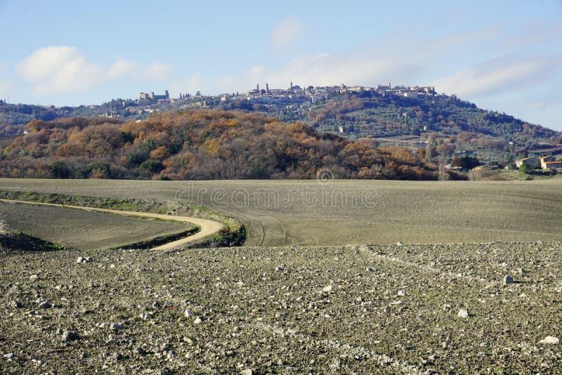 Italien, Toskana, ` Orcia, Landschaftsansicht Val d lizenzfreie stockfotos