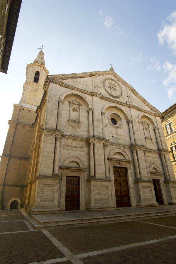 Italien, Toskana, Siena, ` Orcia, Ansicht Val D der Mitkathedrale von Santa Maria Assunta stockfotografie