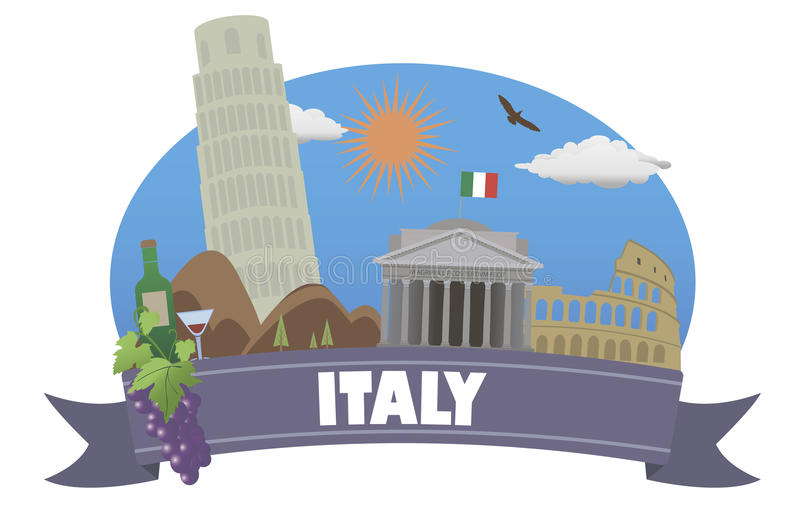 Italien tourismus und reise vektor abbildung illustration von warm europa 41870931 - Office du tourisme italien en france ...