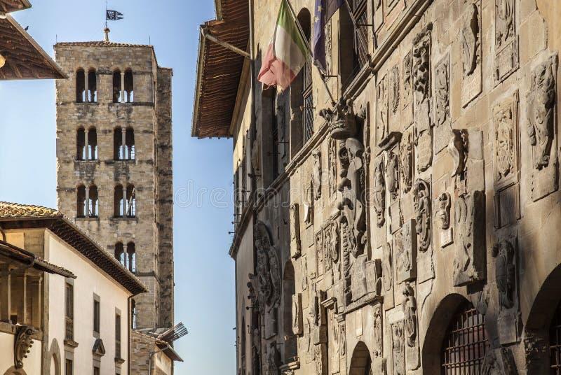 Italien Tuscany, Arezzo royaltyfri bild