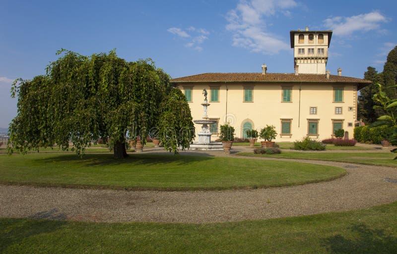 Italien Tuscany, Florence, Petraia villa arkivfoto
