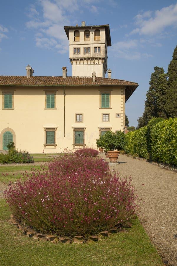 Italien Tuscany, Florence, Petraia villa fotografering för bildbyråer
