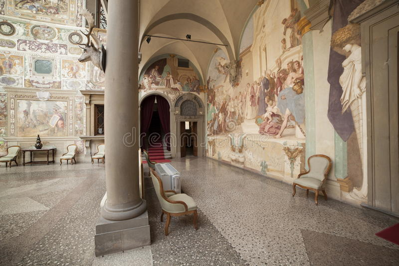 Italien Tuscany, Florence, Petraia villa arkivbild