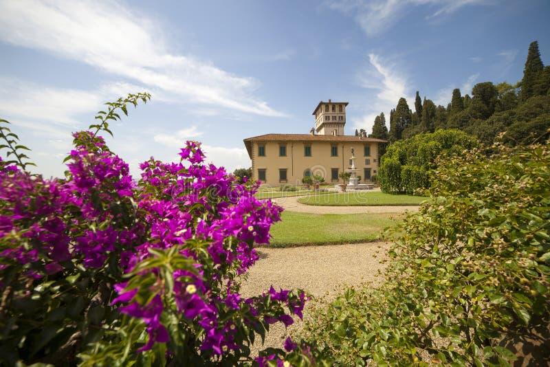 Italien Tuscany, Florence, Petraia villa royaltyfri foto
