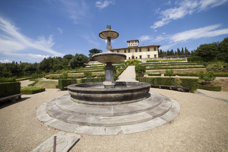Italien Tuscany, Florence, Petraia villa royaltyfri bild