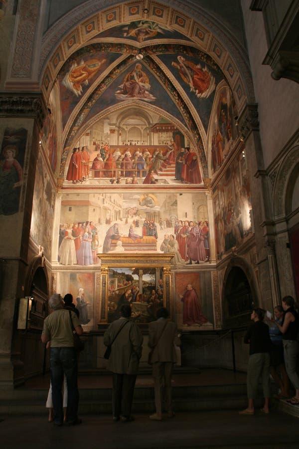 Italien Tuscany, Florence, Santa Trinita Church arkivfoton