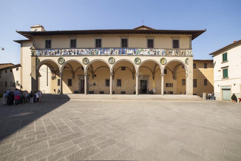 Italien Tuscany, Pistoia, Ceppo sjukhus royaltyfria bilder
