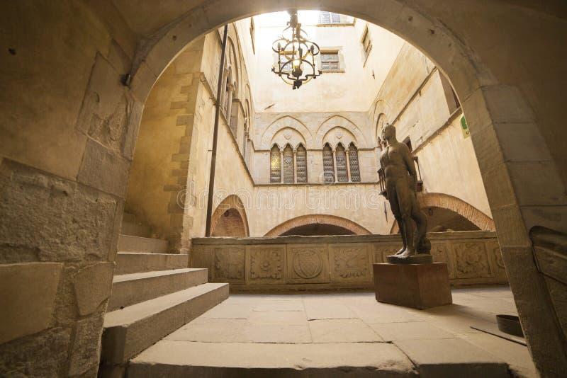 Italien Tuscany, Pistoia Stadshus royaltyfri bild