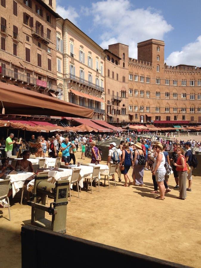 Italien Tuscany, Siena royaltyfri foto