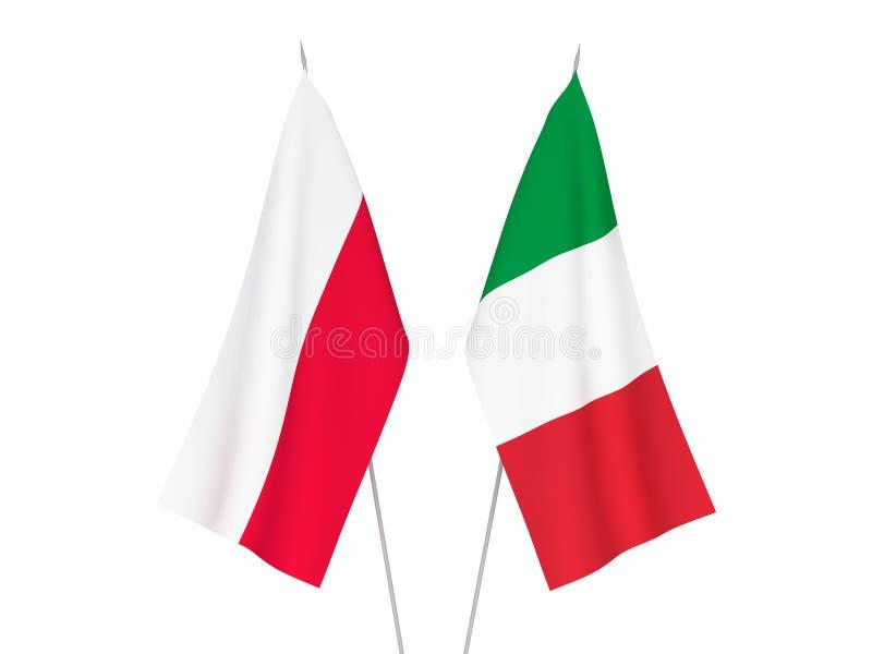 Italien- und Polen-Flaggen vektor abbildung