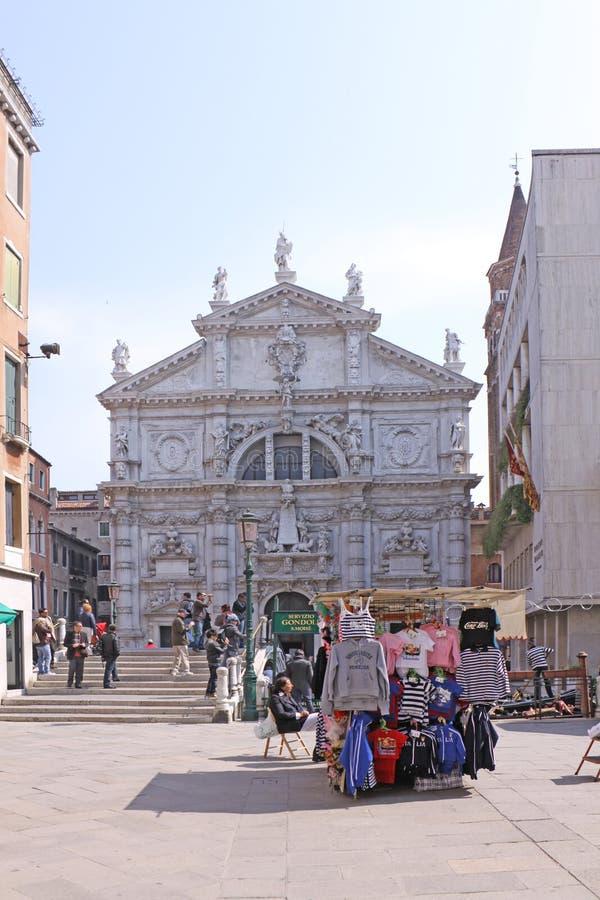 Italien Venedig (Basilica di San Moise) die Kirche von San Moise stockbilder