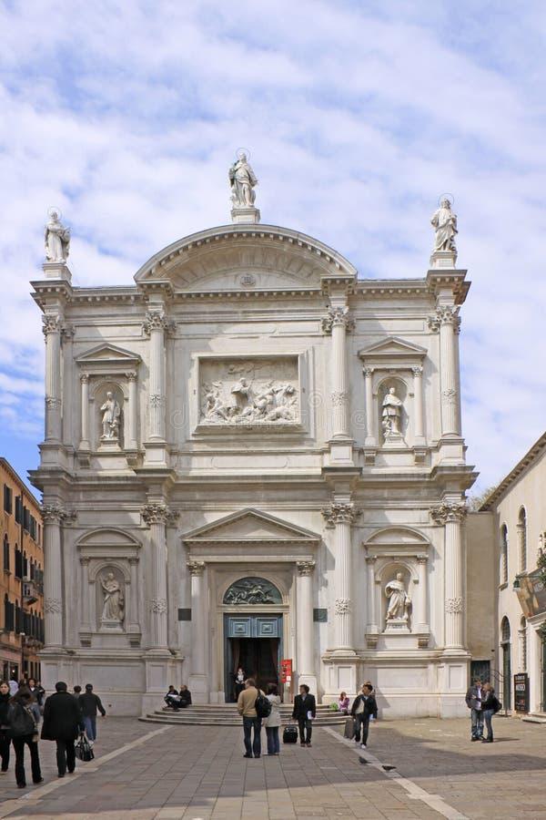 Italien Venedig (Basilica di San Moise) die Kirche von San Moise stockbild