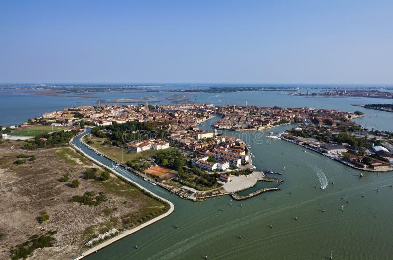Italien, Venedig, Murano Insel, Luftaufnahme lizenzfreie stockbilder