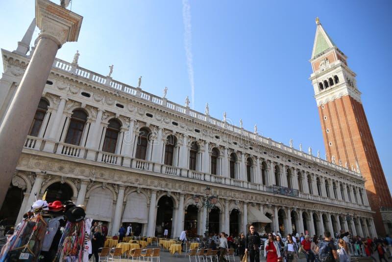 Italien Venedig StMark fyrkant 20/10/2018 arkivfoto