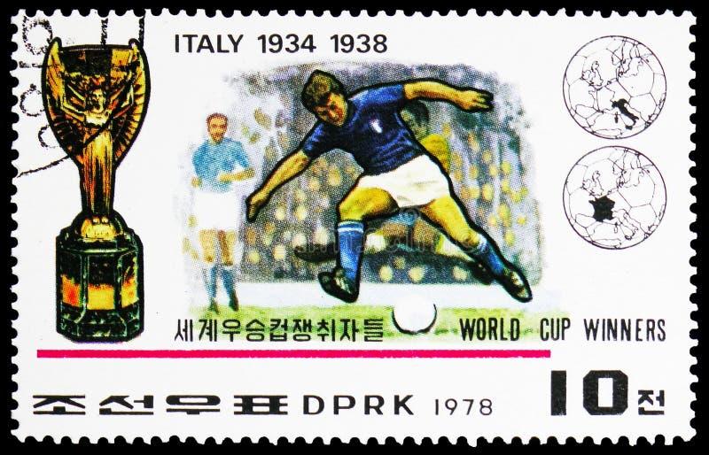 Italien vinnare av den FIFA världscupserien 1930-1978, circa 1978 royaltyfria foton