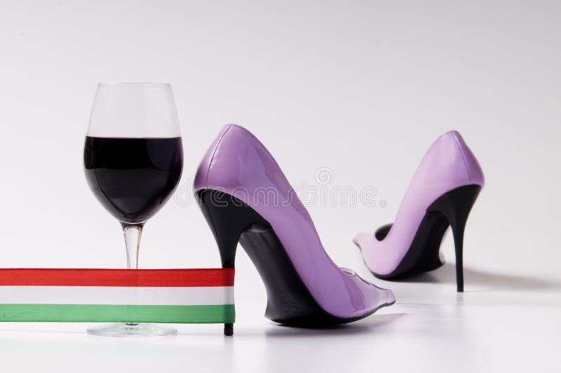 italienare shoes kvinnan arkivfoto