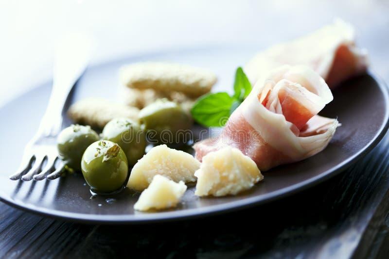 Italienische Antipasti stockfotos