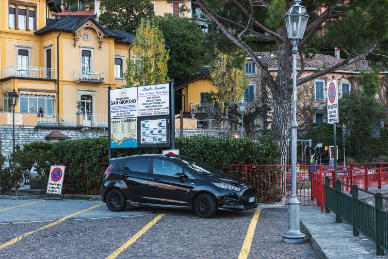 Italienische Architektur von Como See in Lombardei stockfoto