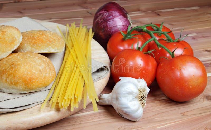 Italienische Artnahrungsmittelbestandteile stockbild