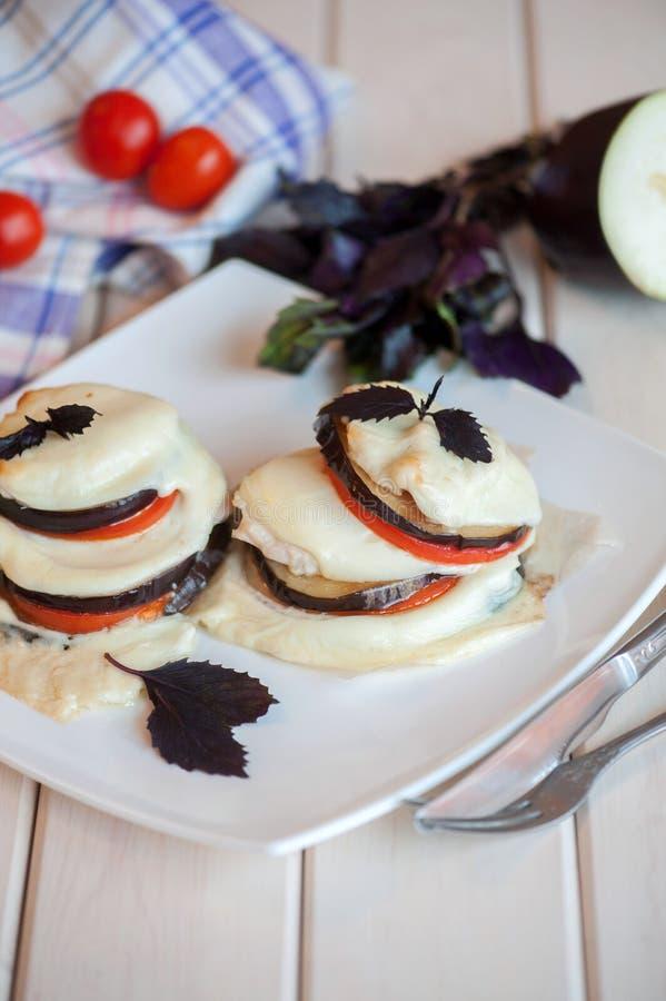 Italienische Aubergine Melanzan stockfotografie
