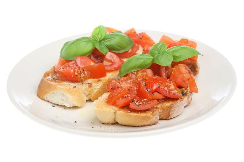 Italienische Bruschetta Nahrung lizenzfreies stockbild