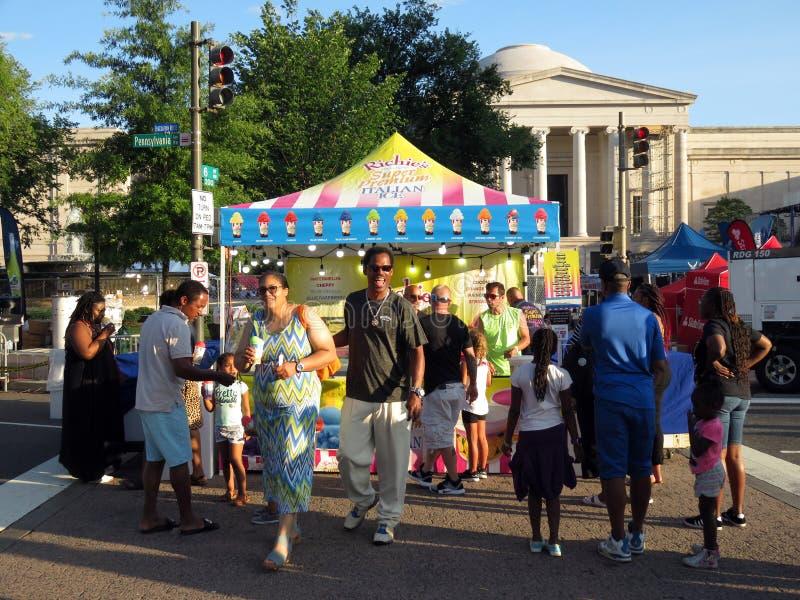 Italienische Eiscreme am Nahrungsmittelfestival im Washington DC stockfotos