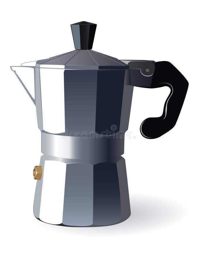 Italienische Espressomaschine stock abbildung