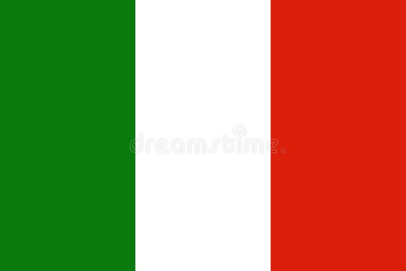 Italienische Flagge Italien vektor abbildung