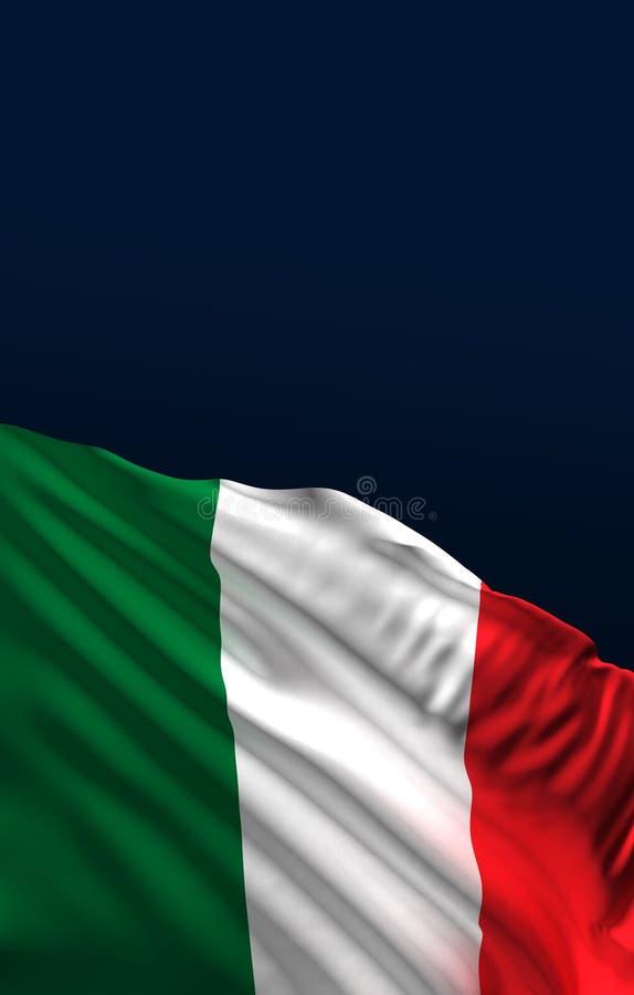 Italienische Flagge, nationale Farben 3D Italiens übertragen stock abbildung