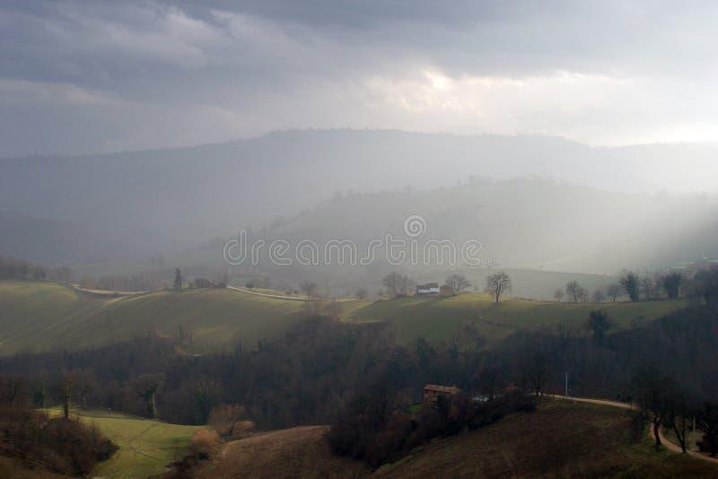 Italienische Hügel stockfoto