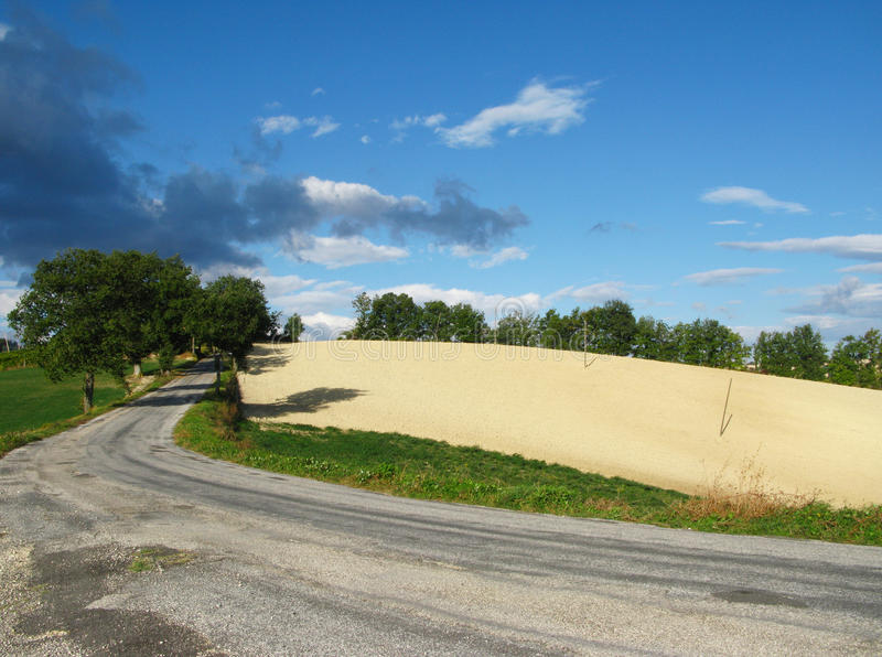 Italienische Hügel stockfotografie