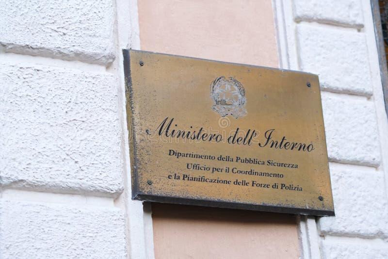 Italienische Innenministerium-Abteilung lizenzfreie stockfotografie