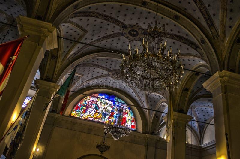 Italienische Kirchendecke stockfotos