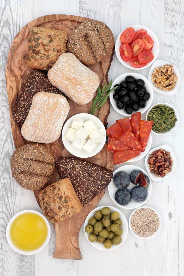 Italienische Lebensmittel-Snäcke stockfoto
