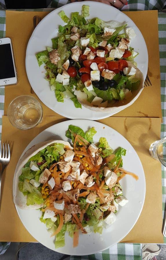 Italienische Mahlzeit stockfoto