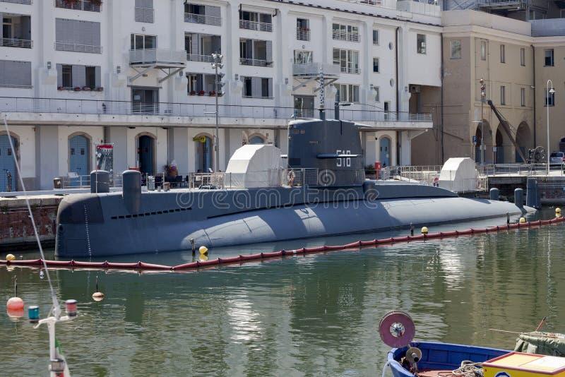 Italienische Marine-Nazario Sauro-Klassenunterseeboot lizenzfreie stockfotografie