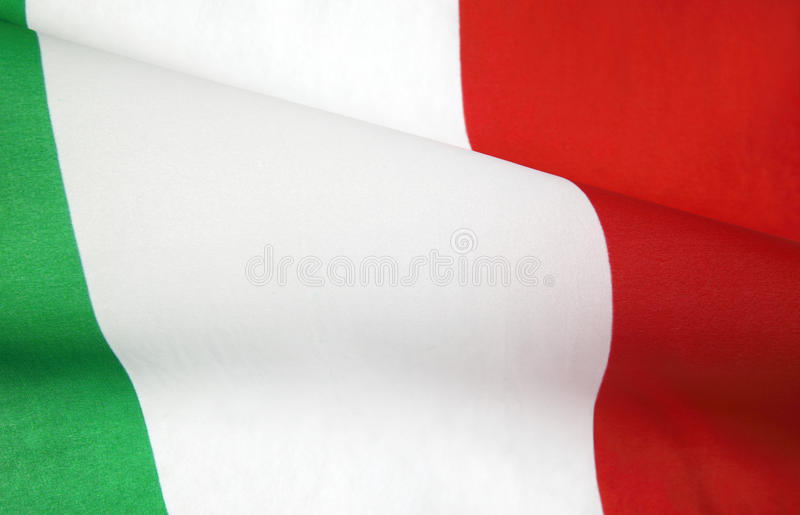 Italienische Markierungsfahne stockfoto