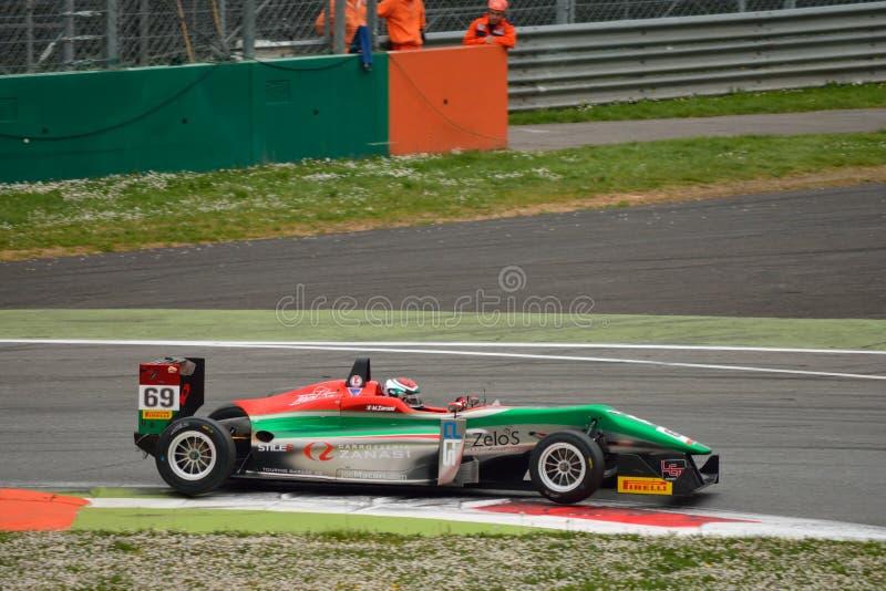 Italienische Meisterschaft Dallara 2015 der Formel-2 in Monza lizenzfreie stockbilder