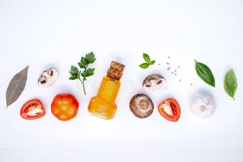 Italienische Nahrungsmittel Konzept und Menüdesign Verschiedenes Gemüse und ing stockfoto