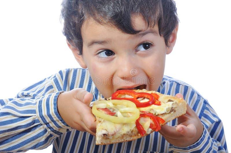 Italienische Pizza mit vielen Farben lizenzfreie stockfotografie