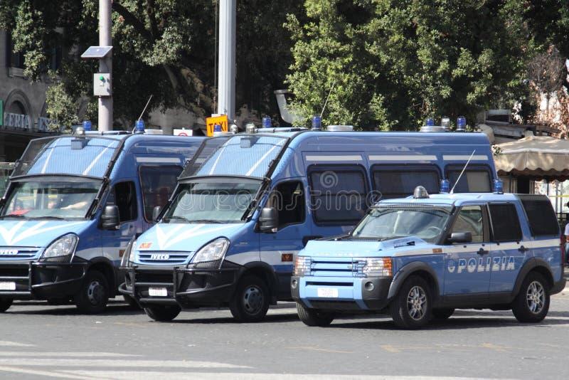 Italienische Polizeiwagen lizenzfreies stockbild