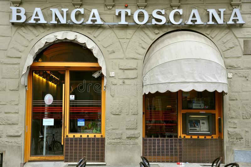 Italienische Querneigung in Toskana stockfotografie
