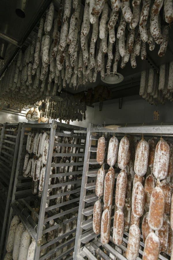 Italienische Salami stockbild