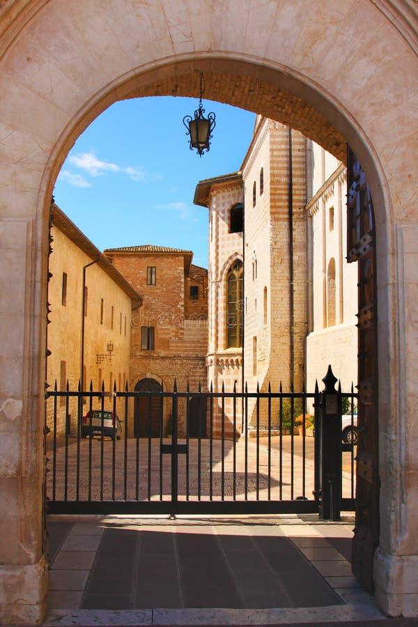 Italienische Stadt Assii, Kloster von Str. Francesco lizenzfreie stockbilder