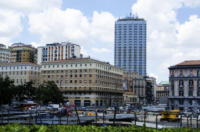 Italienische Stadt Neapel lizenzfreies stockbild