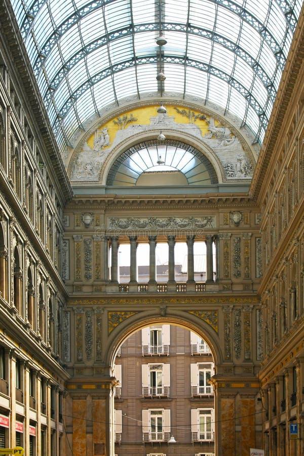 Italienische Stadt Neapel, Galleria Umberto lizenzfreie stockfotos